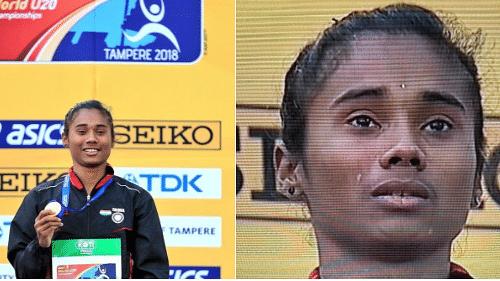 Watch: Hima Das Weeps Tears of Joy While Singing National Anthem