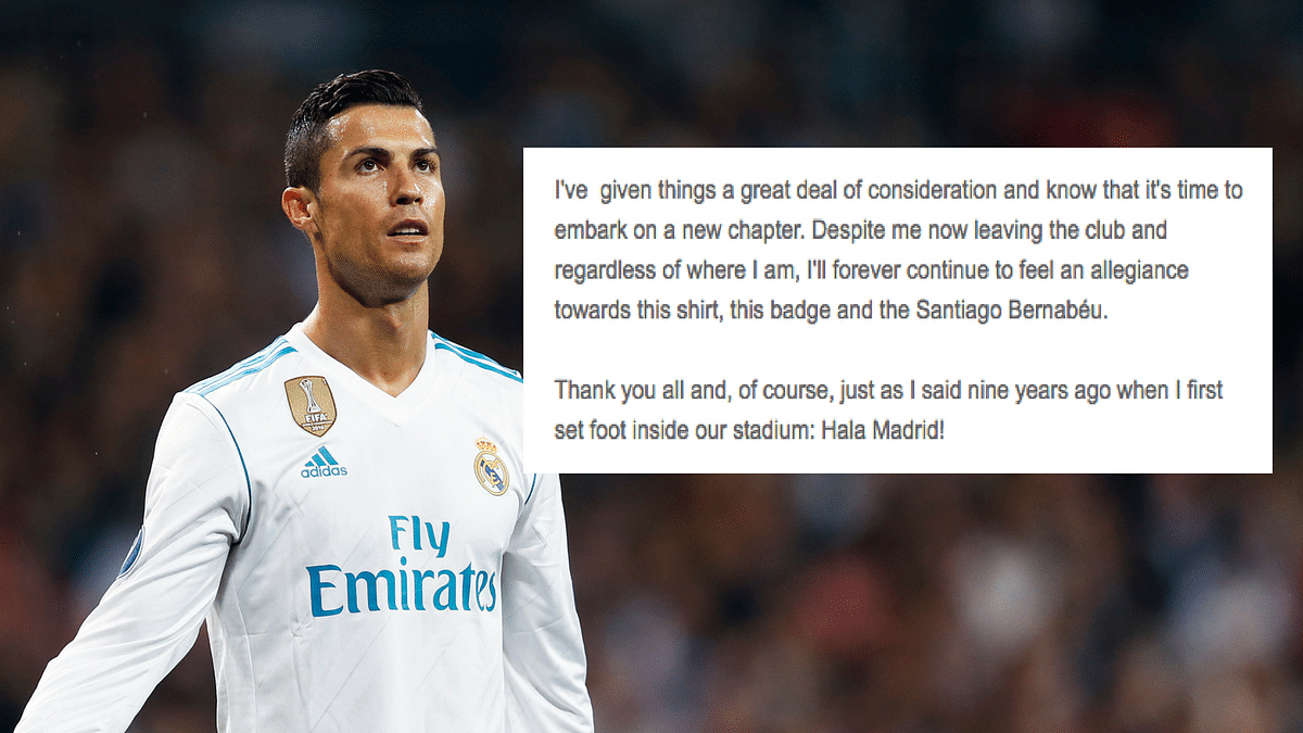 Full Text of Cristiano Ronaldo's Farewell Letter to Real Madrid
