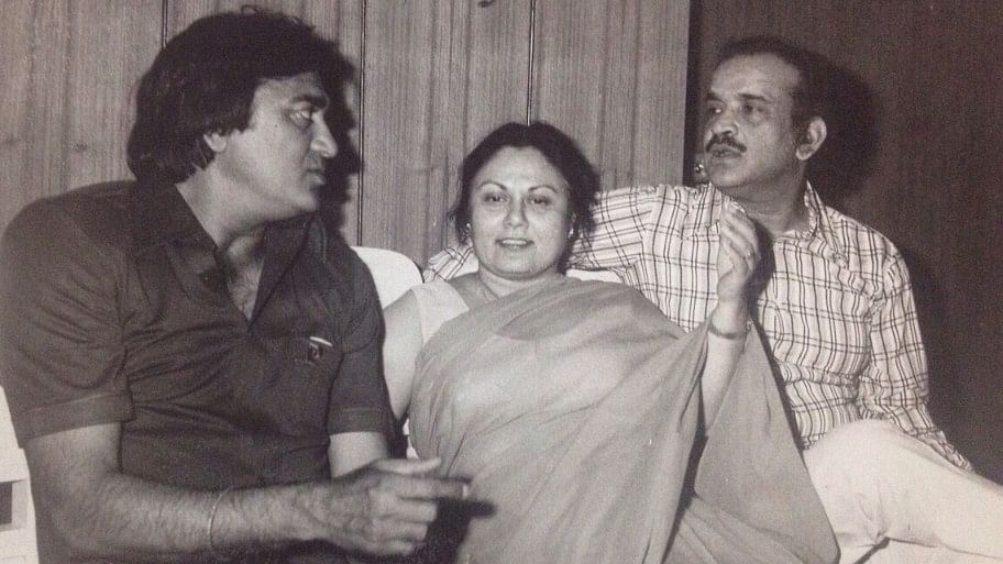 <i>(From left to right)</i> Sunil Dutt, Mrs Subhash Bahl <i>(author's mother)</i>, Late Mr PN Bahl <i>(author's father)</i>.