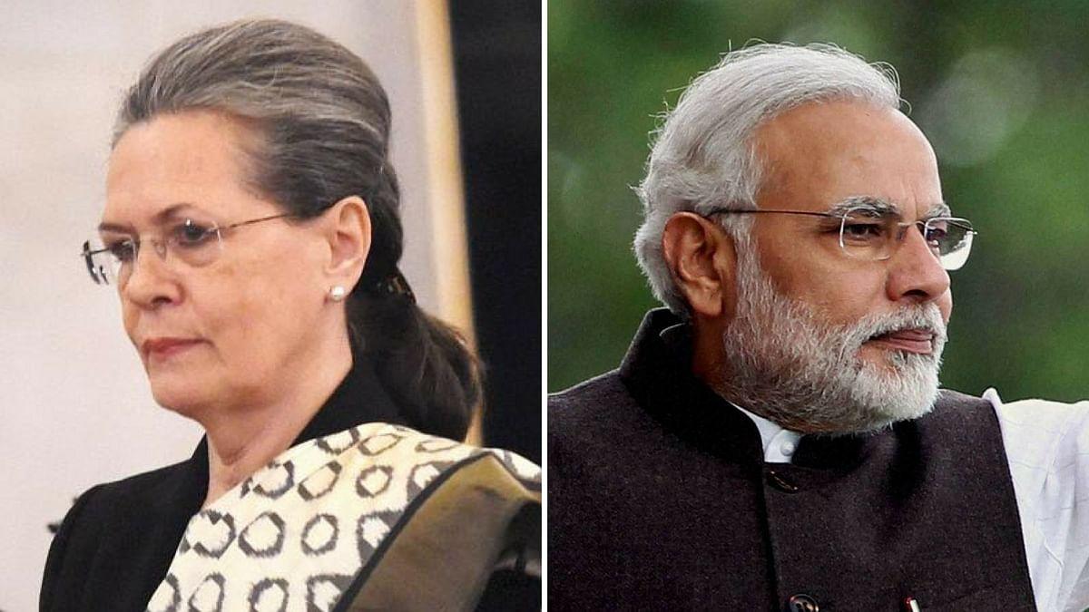 Congress President Sonia Gandhi and Prime Minister Narendra Modi. Image used for representational purposes.