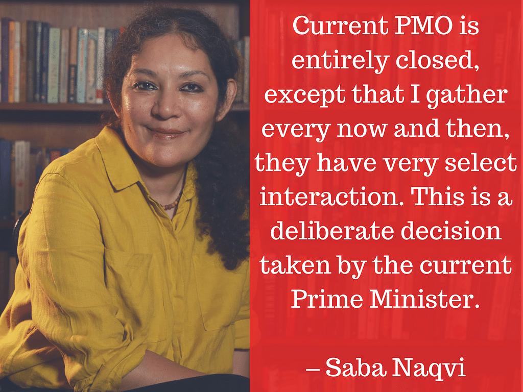 Saba Naqvi: Unlike Modi, PMO Under Vajpayee Was An Open House