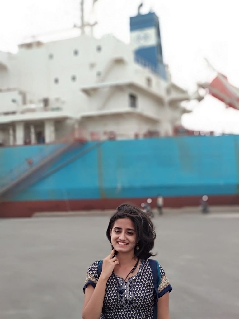After two long days of story-searching, I ticked one of my bucket list as I checked out a ship docked in the Tuticorin harbour.