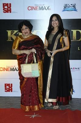 Latha Rajinikanth (L). (Photo: IANS)