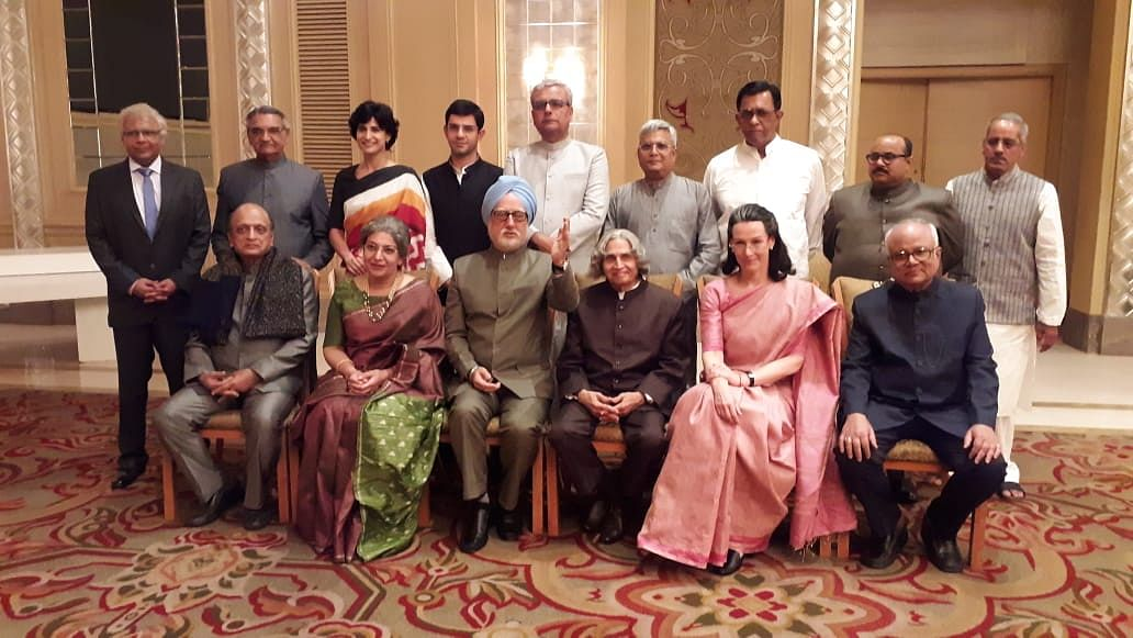 A photo of the cast from <i>The Accidental Prime Minister</i>.