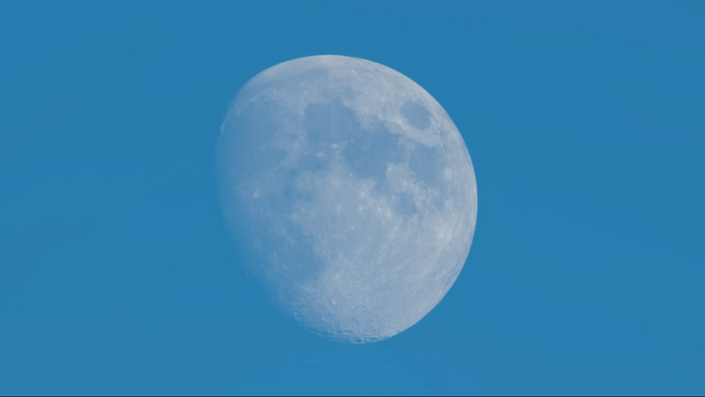 The Sky Continues Its Light Show: Look for the Moon – In the Day