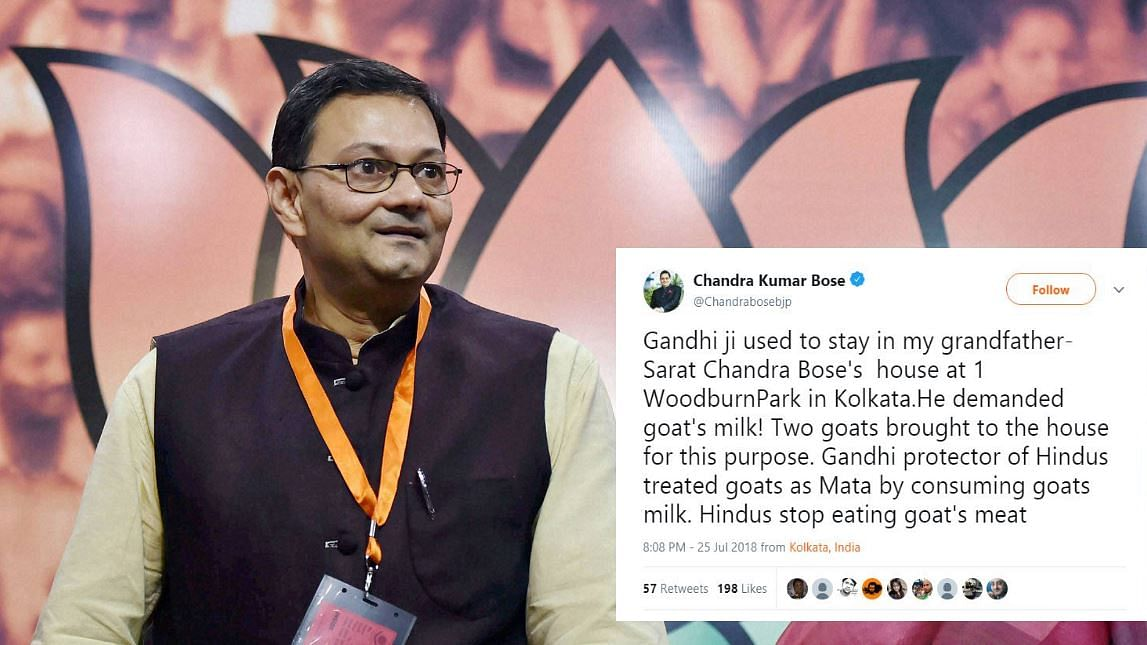Netaji's Kin Says 'Gandhi Treated Goat as Mata', Miffs Tripura Guv