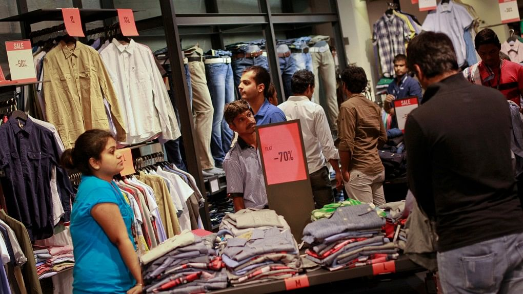 Shoppers busy in a Mumbai mall during sale. Image used for representation.