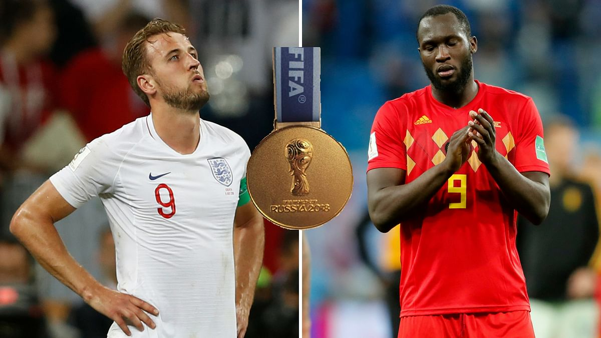 Harry Kane (left) and Romelu Lukaku had dismal semifinals, but both compete for the Golden Boot in the Bronze Medal match