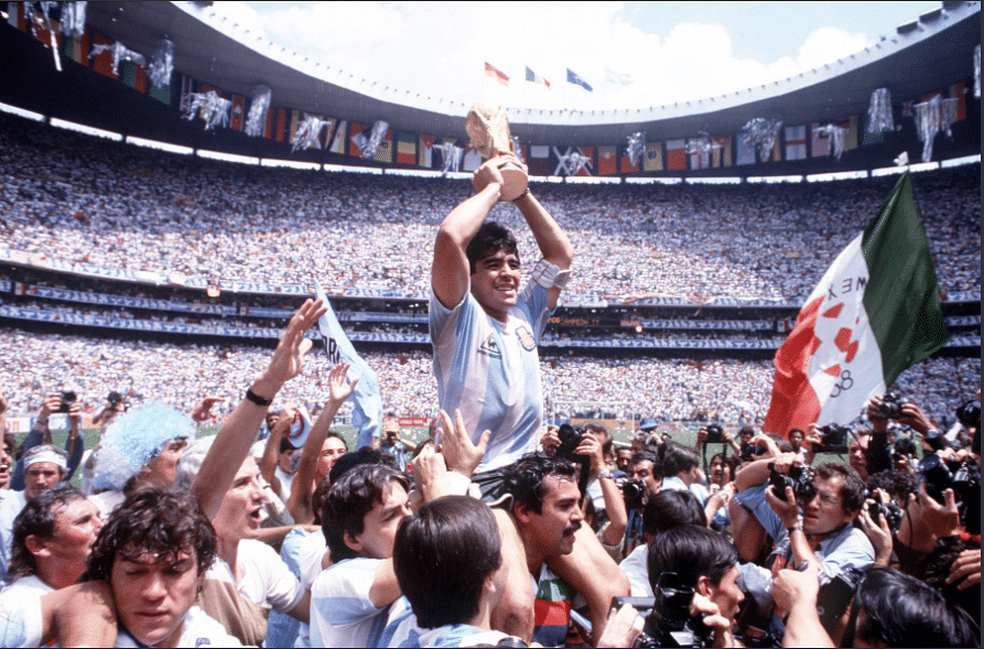 Diego Maradona scored only 5 of Argentina's 14 goals in the competition, yet had a huge hand in his country's triumph.