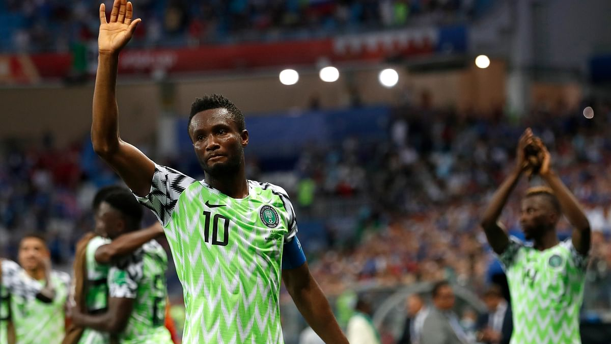 File photo of Nigerian captain John Obi Mikel from the FIFA World cup 2018.