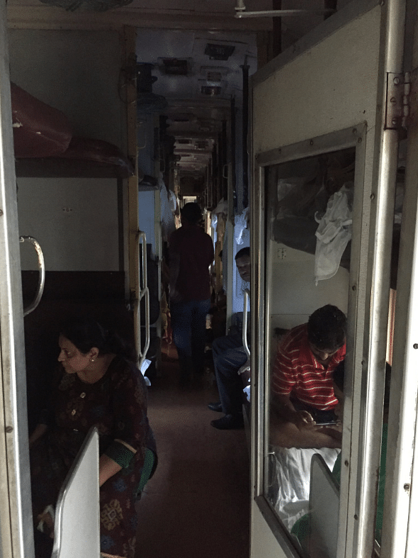 There is no electricity in the train.