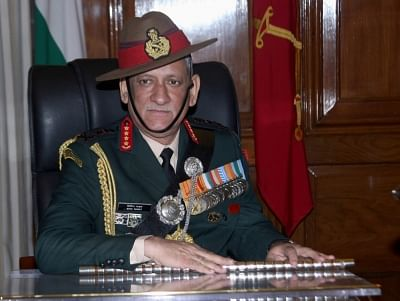 File photo of Army Chief Bipin Rawat.