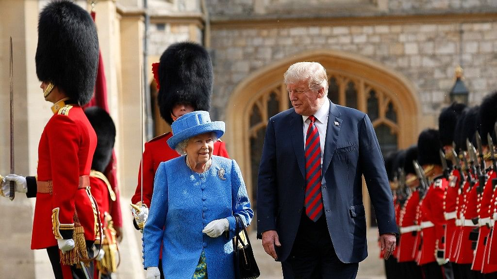 Trump Meets Queen for Less Than One Hour, Breaks Protocol Twice