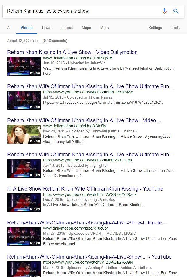 No, Imran Khan's Ex-Wife Reham Did Not Kiss an American Man on TV!