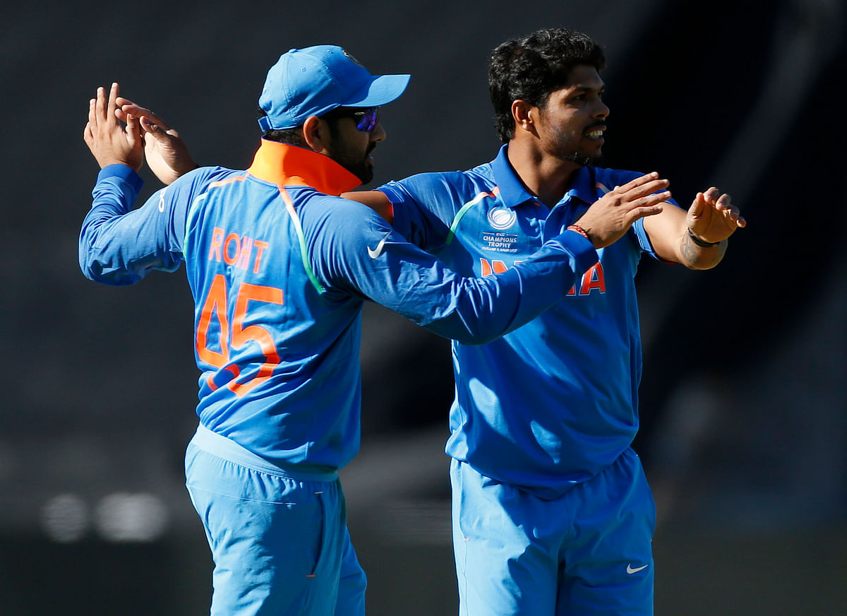 File photo of Umesh Yadav celebrating a wicket with Rohit Sharma.