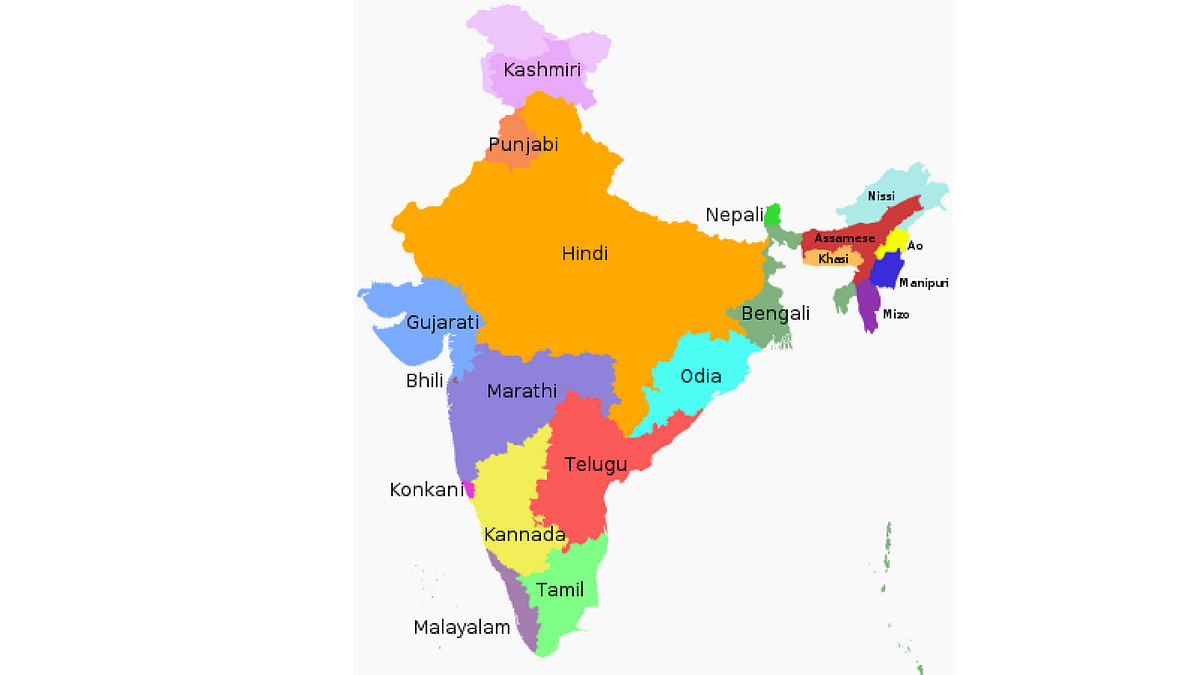 Owing to the higher population growth in the native Hindi speaking states, Hindi is now the mother tongue of 43.63 percent of Indians.