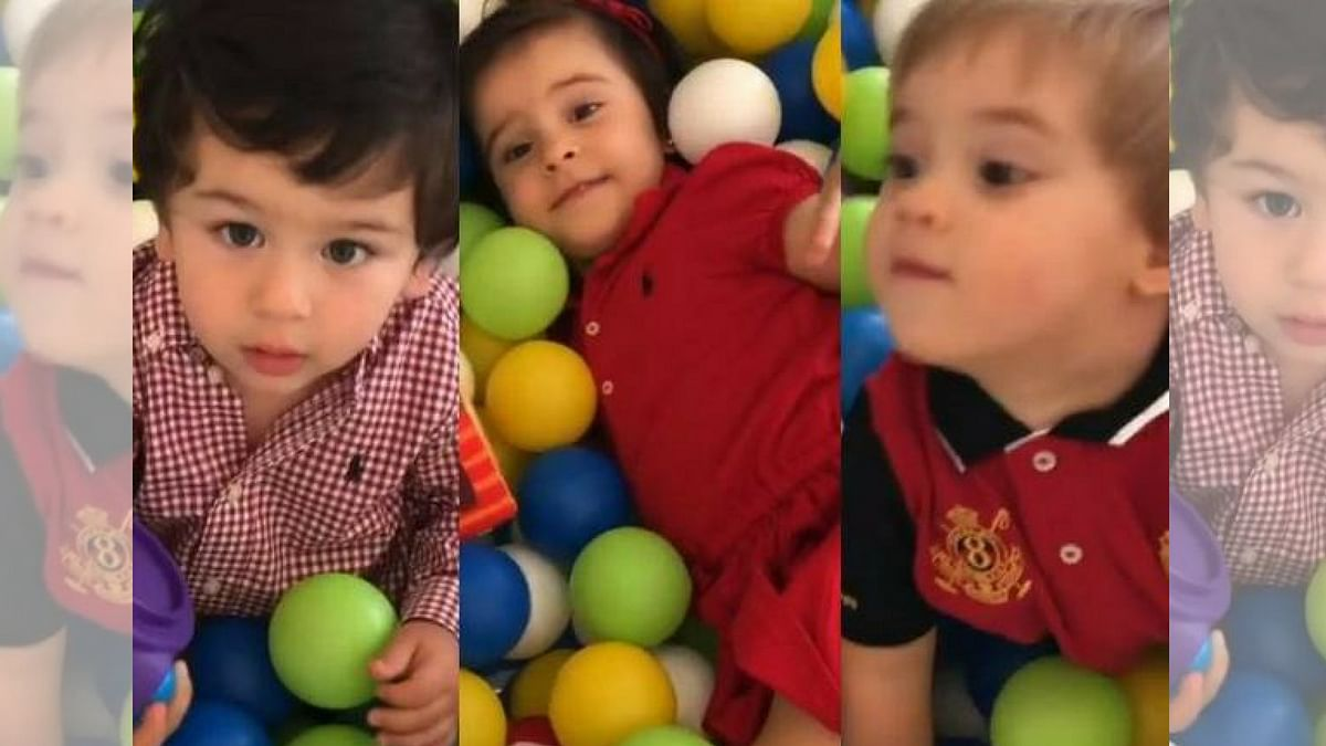 Watch: Taimur Has a Blast on a Play Date With KJo's Twins