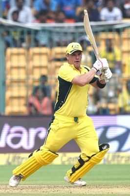 Australian cricketer Aaron Finch. (Photo: IANS)