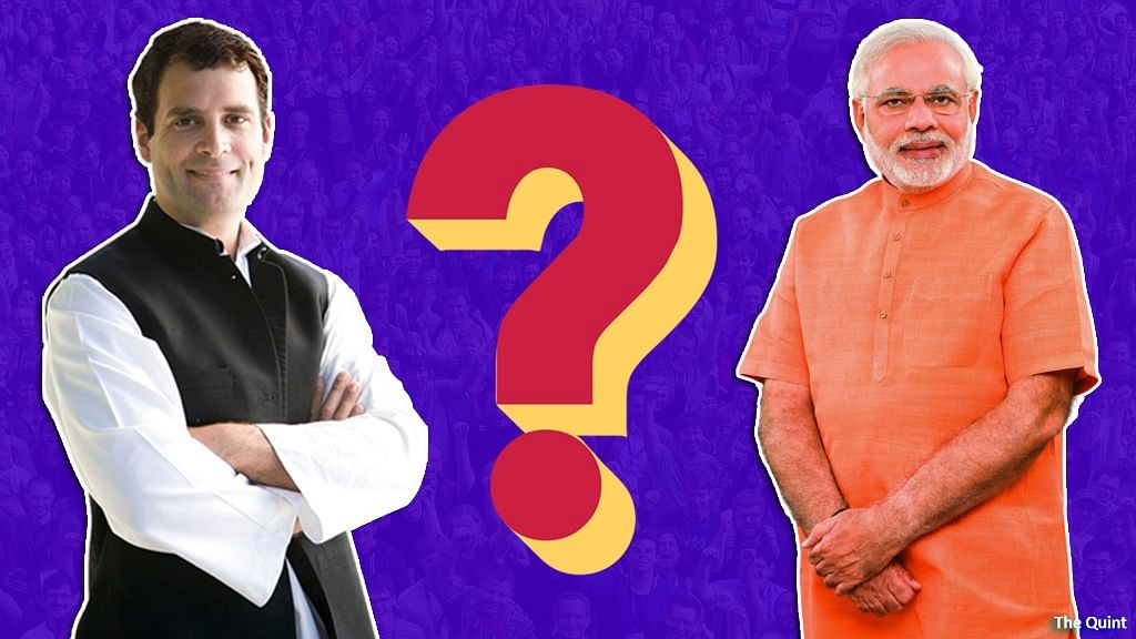 """Will the victor be Modi's macho image or Rahul Gandhi's """"mother of all sops"""", as his profligate bonanza has been called?"""