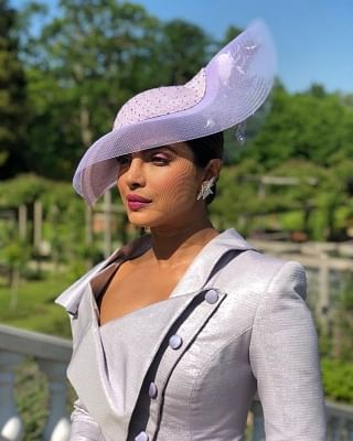 Actress Priyanka Chopra arrives to attend her friend and actress Meghan Markle