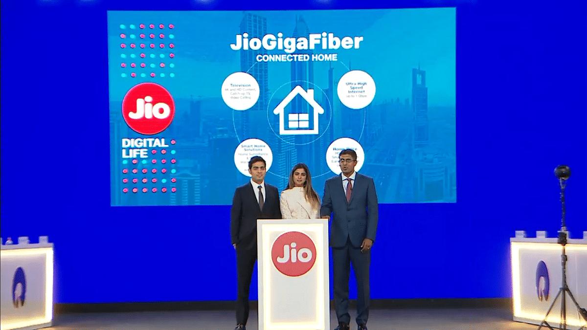 Akash Ambani detailing Jio smart home offerings.
