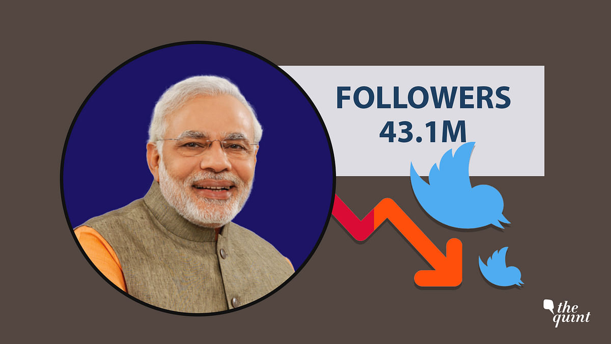 Prime Minister Narendra Modi's Twitter follower count dropped in the past 24 hours.