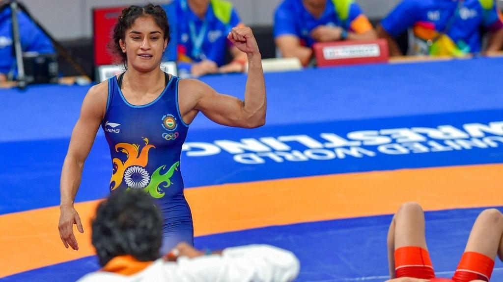 Vinesh Phogat wins gold at Asian Games 2018.