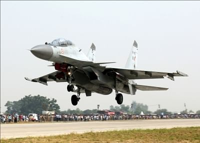 Sukhoi Su-30 fighter aircraft.