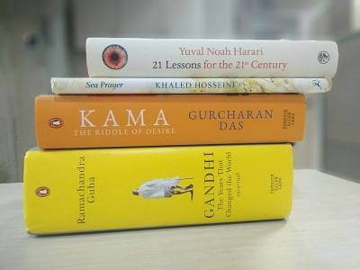 21 Lessons for the 21st Century, by Yuval Noah Harari (Penguin); Sea Prayer, by Khaled Hosseini, illustrated by Dan Williams ( Bloomsbury); Kama, by Gurcharan Das (Penguin); Art Matters, by Neil Gaiman and Chris Riddell (Hachette); Gandhi: the years that changed the world (1914-1948), by Ramachandra Guha (Penguin)