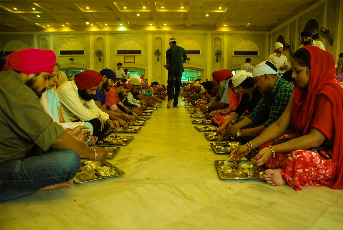 Langar at Bangla Sahib Gurudwara, Delhi.