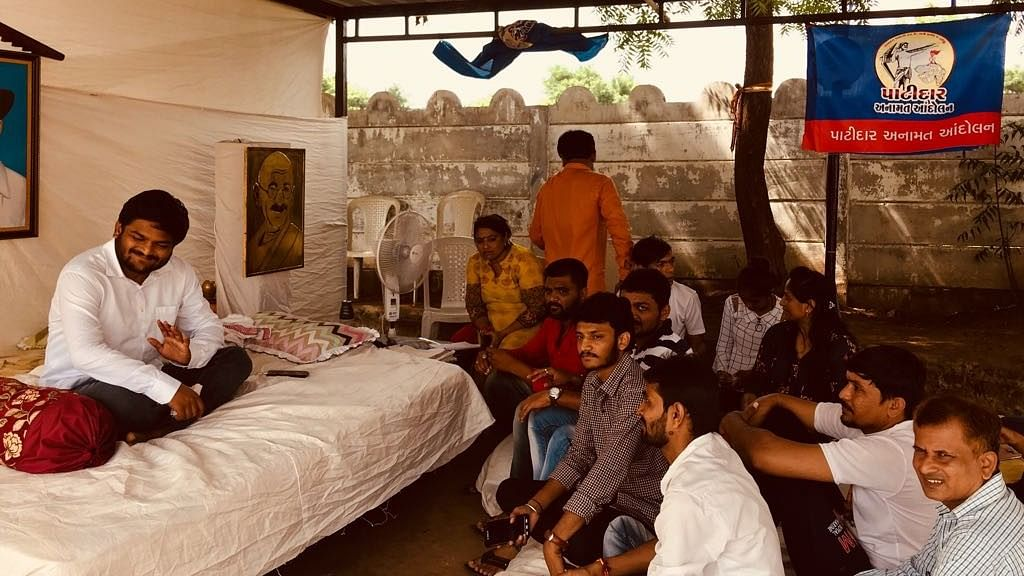 Hardik Patel is on the third day of his indefinite hunger strike.