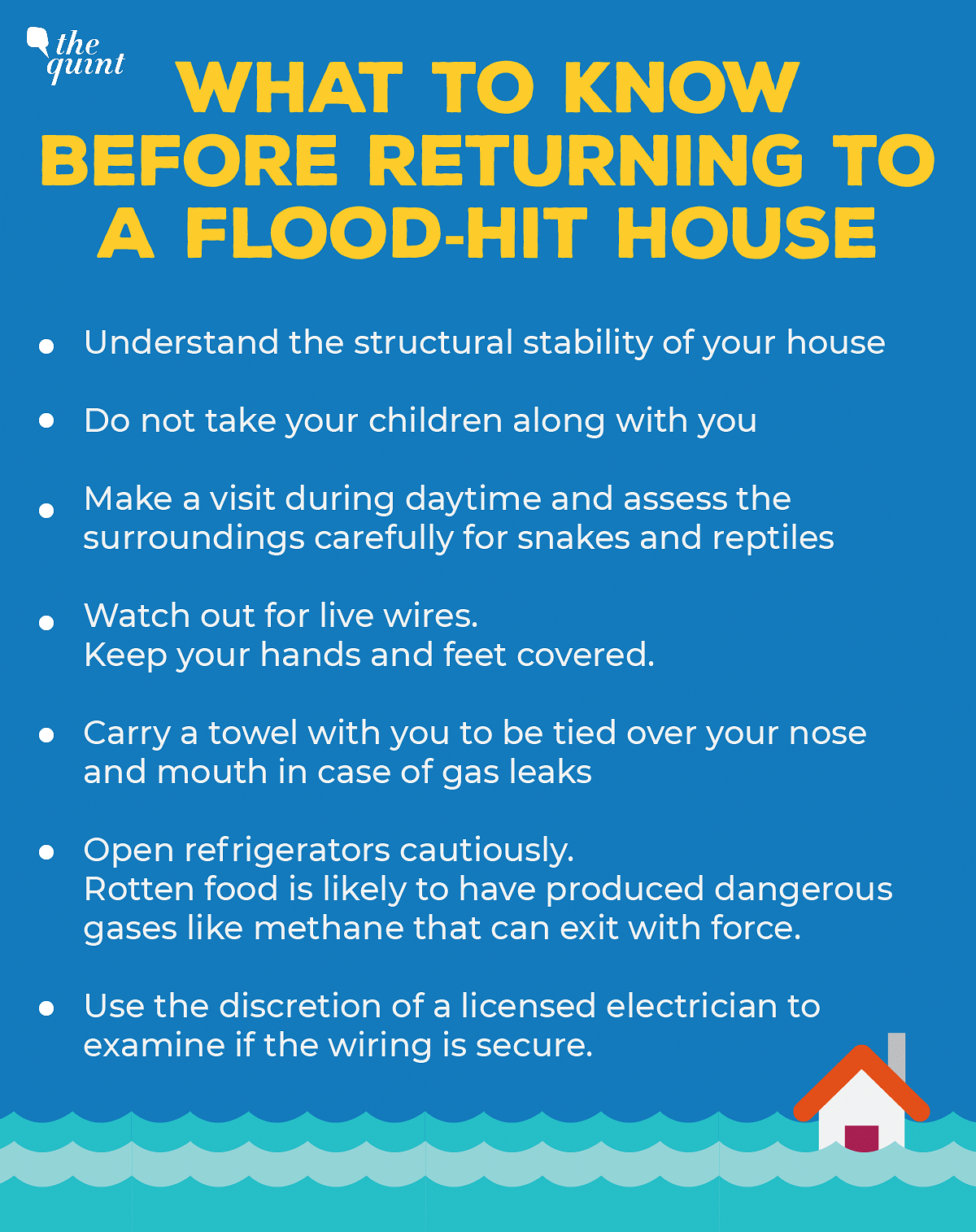 All you need to know before returning to a flood-hit home.