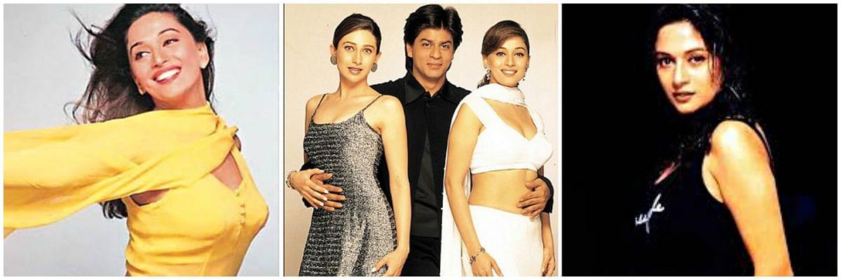 Manish Malhotra styled Karisma Kapoor, Madhuri Dixit and Shah Rukh Khan for <i>Dil Toh Paagal Hai</i> in the year 1997.&nbsp;
