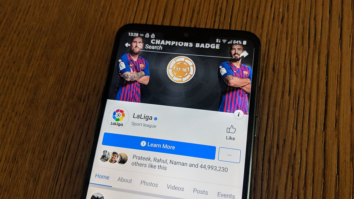The La Liga page on Facebook needs  better content curation.