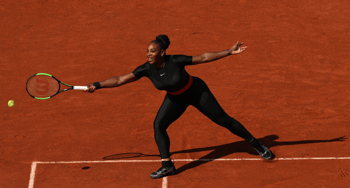 """<div class=""""paragraphs""""><p>Serena Williams at French Opens 2018</p></div>"""