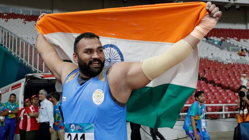 Tajinder Pal Singh Toor set a new Games record in the men's shot put at the 18th Asian Games in Indonesia.
