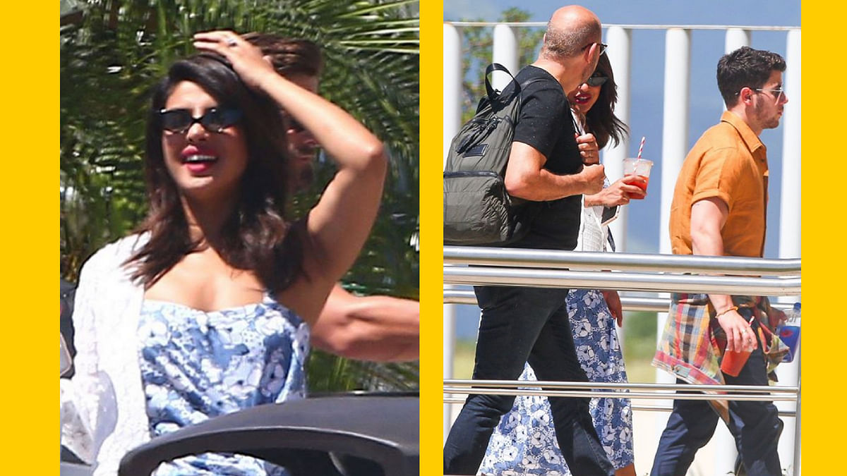 The couple - Priyanka Chopra & Nick Jonas was spotted in Cabo San Lucas, Mexico.