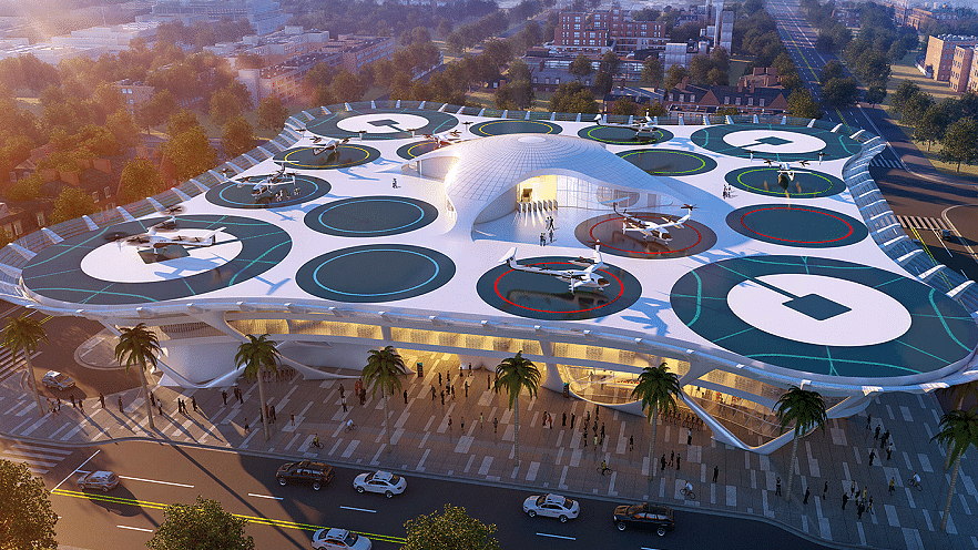 This is what Uber plans to build for its Uber Air taxis in the coming years.