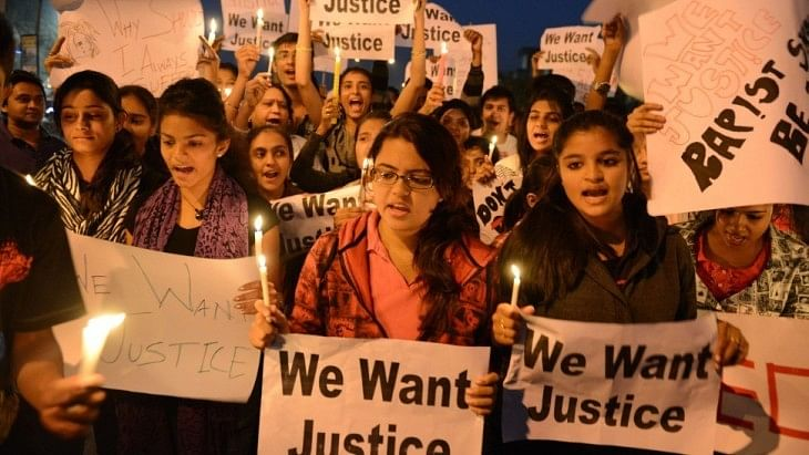 Women protest against sexual harassment in India. Image used for representational purposes only.