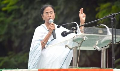 Kolkata: West Bengal Chief Minister and TMC supremo Mamata Banerjee addresses during Trinamul Congress Chhatra Parishad (TMCP) foundation day celebrations, in Kolkata, on Aug 28, 2018. (Photo: Kuntal Chakrabarty/IANS)
