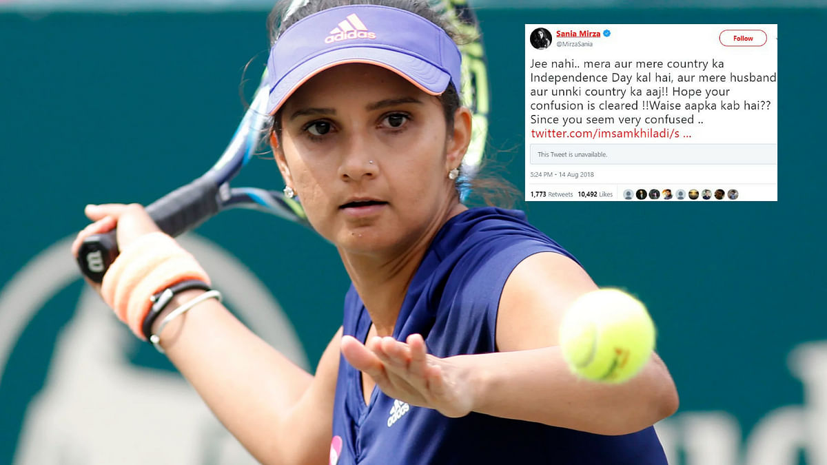 """Sania Mirza Shuts Down Troll: """"My Independence Day is 15 August"""""""