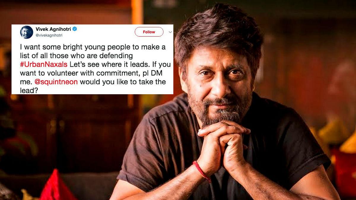Vivek Agnihotri Draws Flak as #MeTooUrbanNaxal Trends on Twitter
