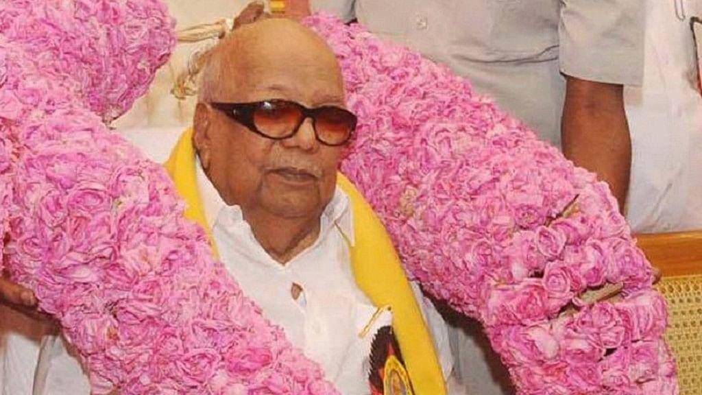 File image of DMK President M Karunanidhi.
