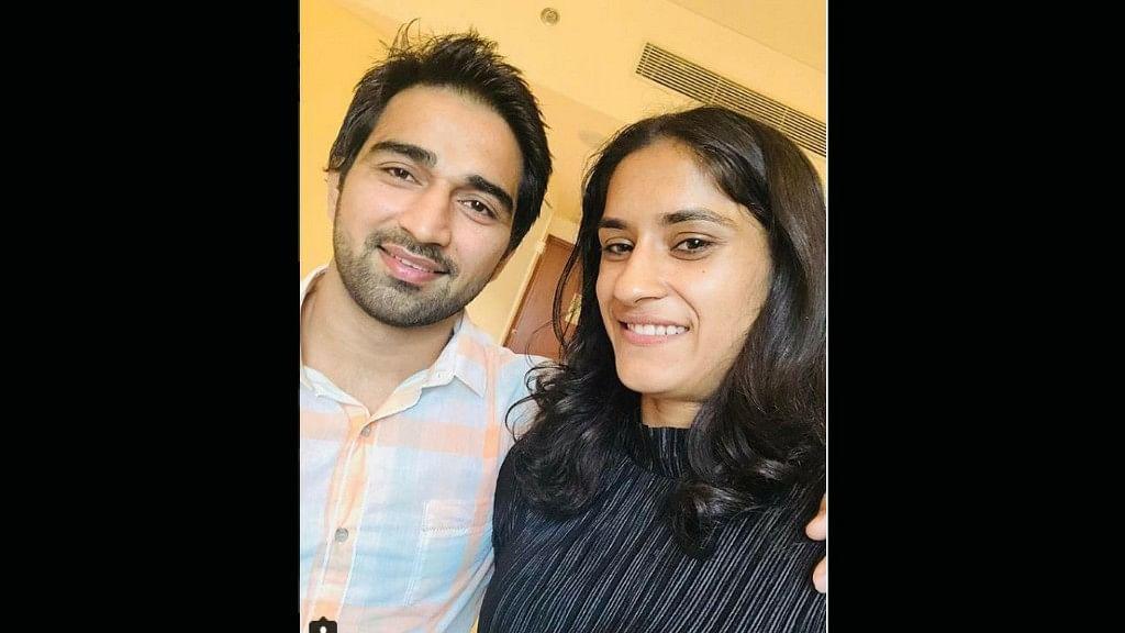 Vinesh Phogat got engaged to her long-time boyfriend Somvir Rathi outside the Delhi airport on 25 August.
