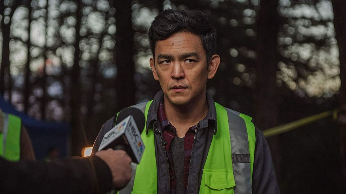 John Cho in a still from <i>Searching</i>.