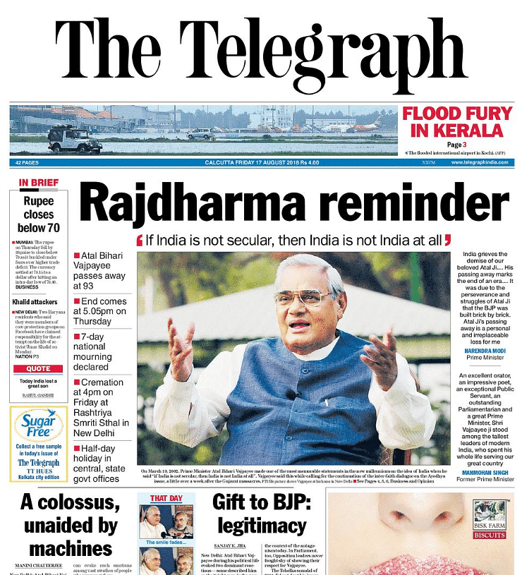 Vajpayee Was BJP's Nehru: How Newspapers Paid Tribute to Former PM