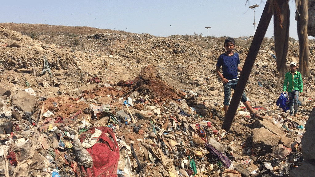 Many ragpickers are children who enter the dumping ground multiple times in a day to collect garbage.