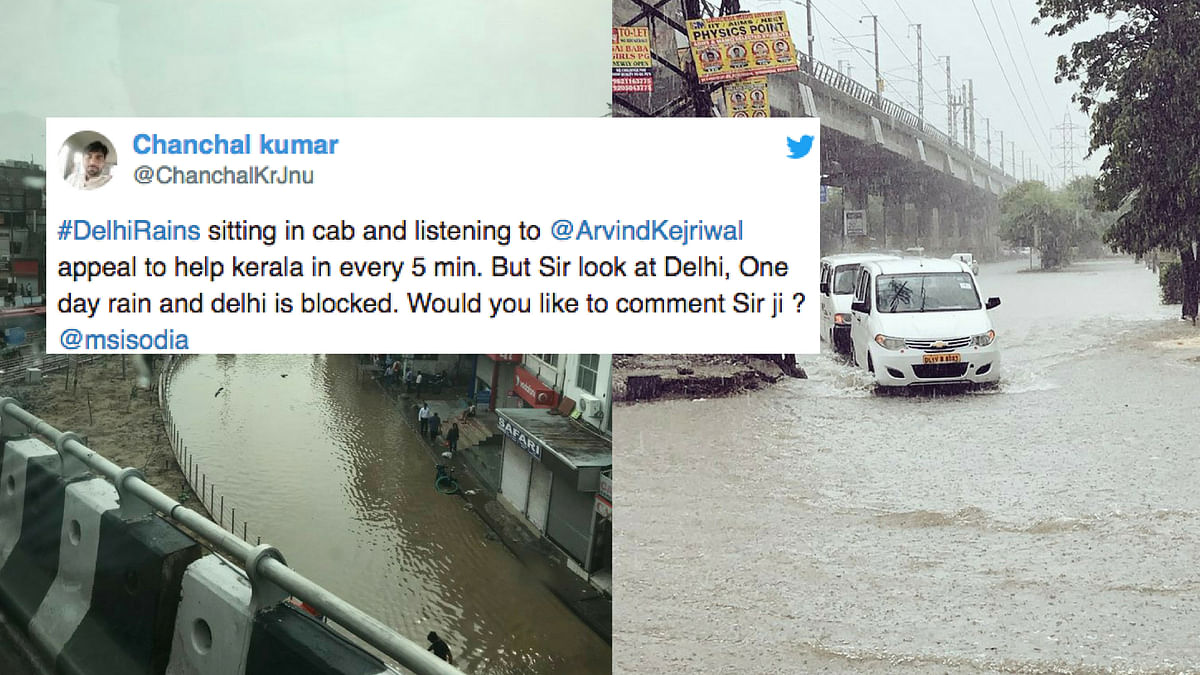 The rain brought down the temperatures but caused water-logging in many areas in Delhi NCR, resulting in traffic jams.
