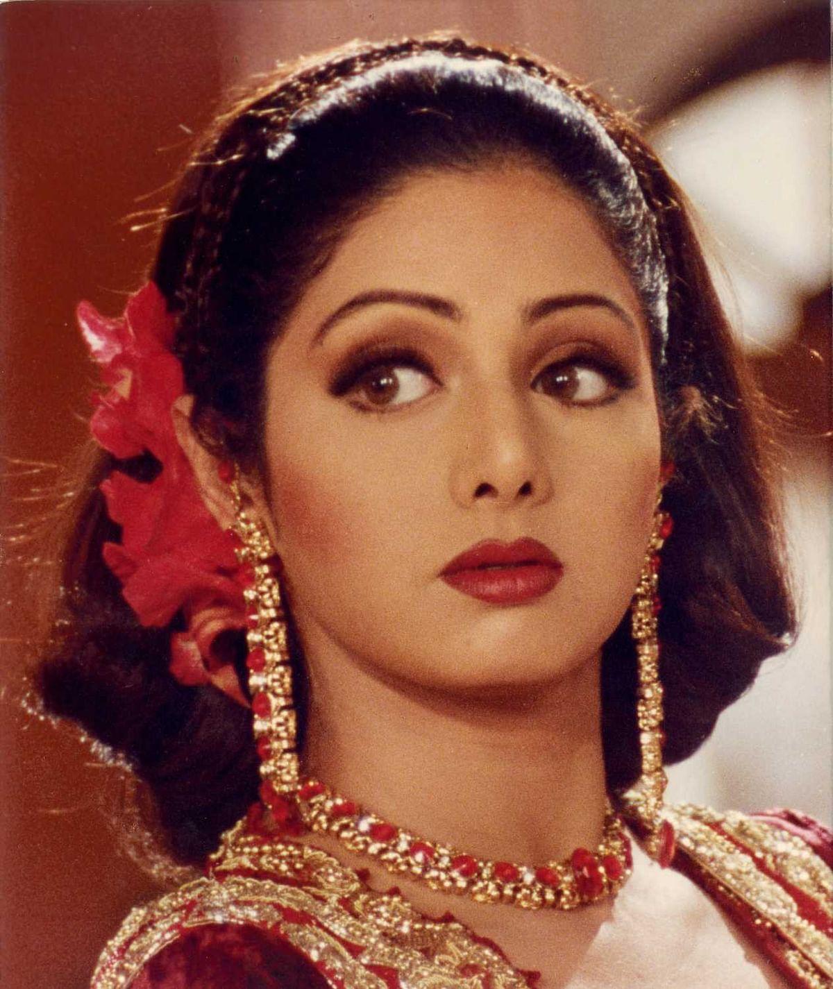 Sridevi in film Judaai in the year 1997.