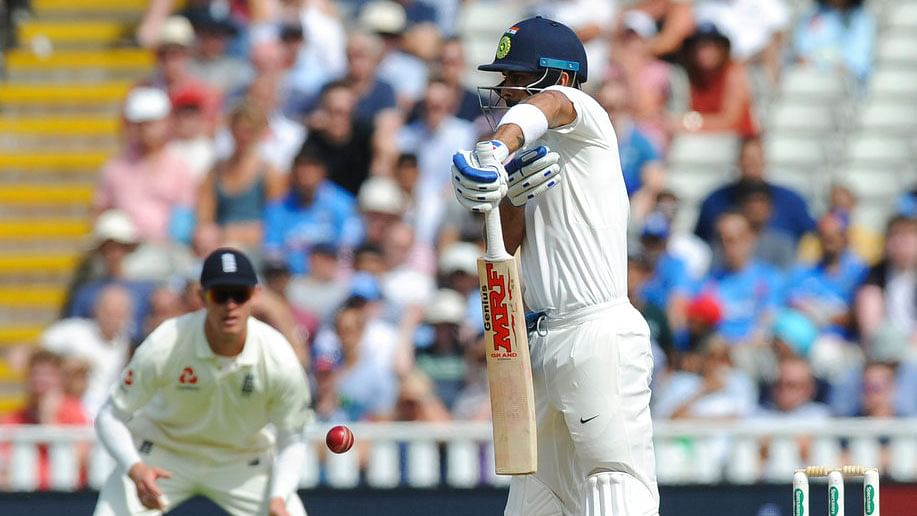 Virat Kohli bats during Day 4 of the first Test against England.